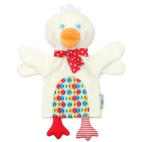 Navigatee Toalla calmante, linda caricatura animal muñeca de peluche juguete muñeca mono rana pato niño