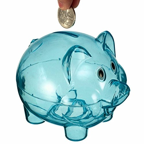 TRENTON Clear Plastic Lovely Piggy Coin Money Saving Bank Openable Kids Gift - Bank Piggy Clear Plastic