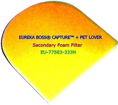 Secondary Filter Upright (EUREKA BOSS CAPTURE + PET LOVER UPRIGHT SECONDARY FOAM FILTER. FOR MODELS 8802AVZ, 8803AVZ, 8806AVZ, 8806BVZ, 8807AVZ, 8811AVZ, 8851AVZ, 8852DVZ, 8852AVZ, 8852BVZ, 8853AVZ, 8863AVZ, 8873AZ.)