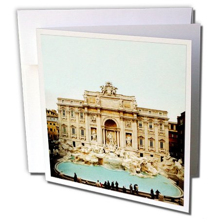 - 3dRose Trevi Fountain Italy - Greeting Cards, 6 x 6 inches, set of 6 (gc_1137_1)