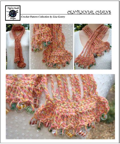 - Centennial Chains - Crochet Pattern #116 - Scarf with Beaded Edging