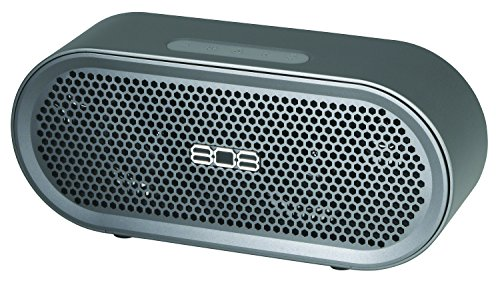 Wireless, Portable Bluetooth Speaker, TXS from 808 Audio with 17 hr Battery, Bass Boost for Premium Sound, Heavy Duty, Durable, Anodized Aluminum Casing for Indoor or Outdoor, at Home or on the Road by 808