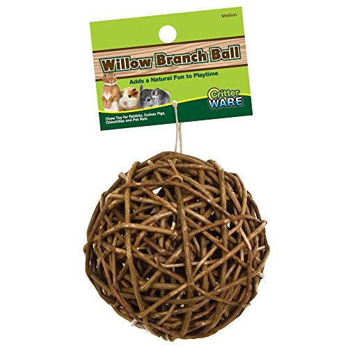Ware Manufacturing Willow Branch Ball for Small Animals - 4-inch Chew Small Animal Toy