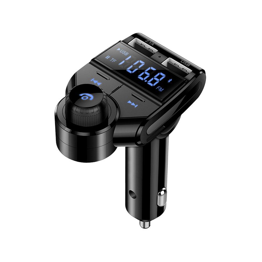 MORE FINE Transmetteur FM Bluetooth Dual USB Chargeur Allume-Cigare Voiture Supporte Mains Libres Micro SD Carte Adapteur Radio AUX Lecteur MP3 pour iPhone Samsung Xiaomi GPS MP4 Cadeau ELF