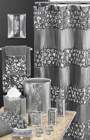 Popular Bath Shower Curtain 70 x 72 Champagne//Gold 70 x 72 839166 Sinatra Collection