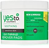 Yes To Cucumbers Eye Makeup Remover Pads, 45 Count by Yes To Carrots