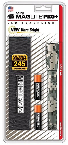 - Mag-Lite SP+PMRH Mini PRO+ LED 2-AA Cell Flashlight with Holster - UCP Camo (155-126)