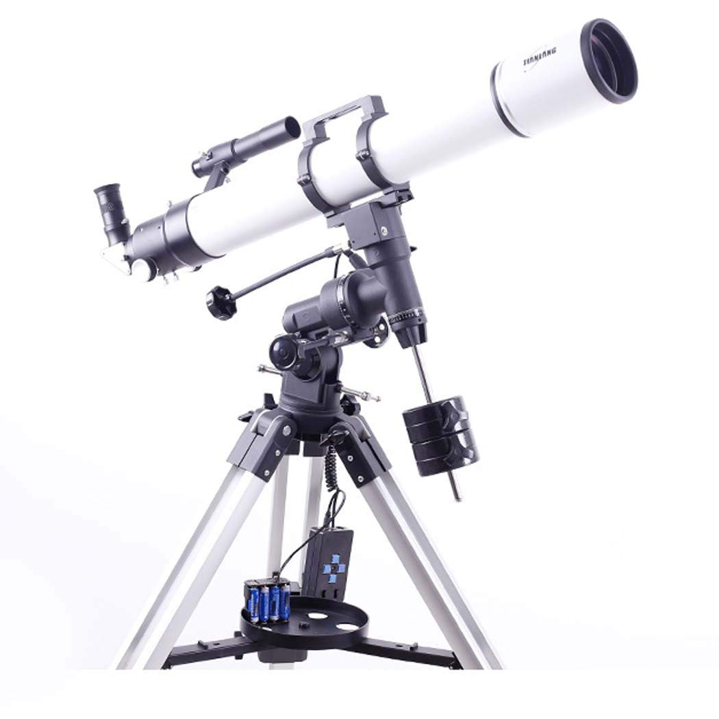 TJ2-HS102DS Focal Length 500Mm, Telescope Refracting Telescope Adjustable Portable Travel Telescopes for Astronomy, Multi-Layer Green Film with Equatorial Mount by GGPUS