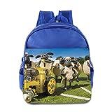 Toddler Kids Shaun The Sheep Movie School Backpack Cute Children School Bags RoyalBlue