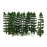 Shalleen 20 Fir Trees Model Train Railroad Diorama Architecture Wargame Scenery HO OO