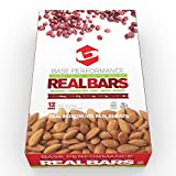 BASE Performance REAL BAR Box of 12 - Lime Berry Flavor | Gluten Free, Soy Free, GMO Free, and Dairy Free - Contains Cranberry / Lime / Apple / Almond / Honey and many other natural ingredients