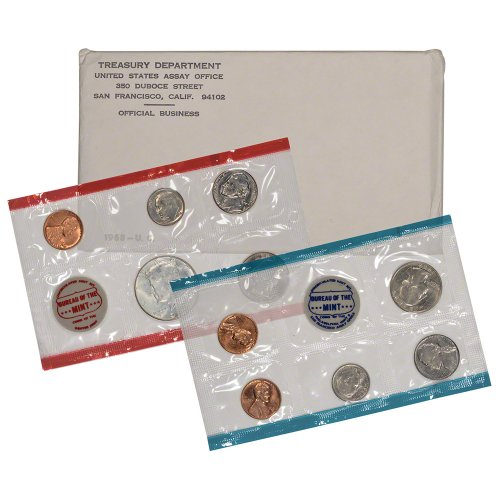1968 United States Mint Uncirculated Coin Set in Original Government Packaging ()