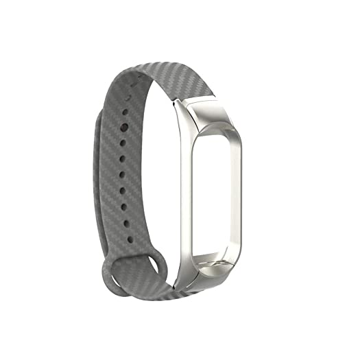 para Xiaomi Mi Band 3 Reemplazo Pulsera Pulsera Silicona Banda Correa + Marco Banda de Reloj de Silicona de Mezclilla Deportiva Pulsera Brazalete Ajustable ...
