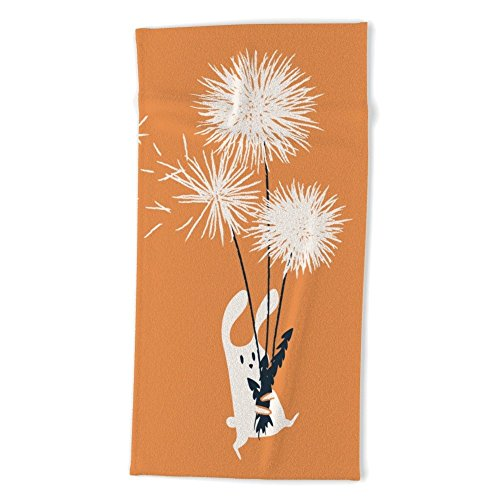 Society6 Bunny And Dandelion Bouquet Beach Towel 74