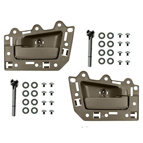 Rear Inside Inner Light Brown Door Handle Kit Pair Set for 05-10 Grand - Handle Door Light Inside