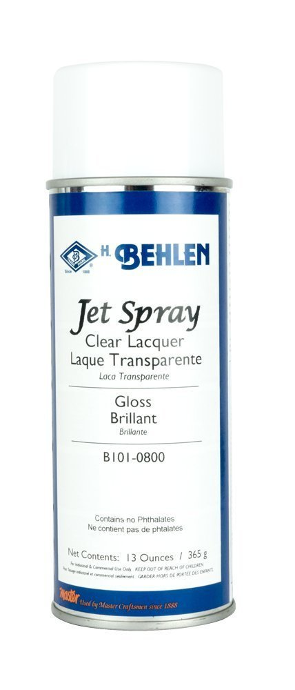 Behlen Jet Spray Clear Lacquer - Gloss (12-Pack) by Behlen (Image #2)