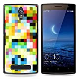 Jordan Colourful Shop - Pattern Old Tv Colorful Squares Wallpaper For Oppo Find 7 X9007 - < Custom black plastic Case Cover > -
