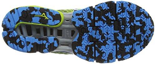 Mizuno Wave Prophecy 4, Scarpe Sportive, Uomo (Multicolor (Lime Punch/Black))