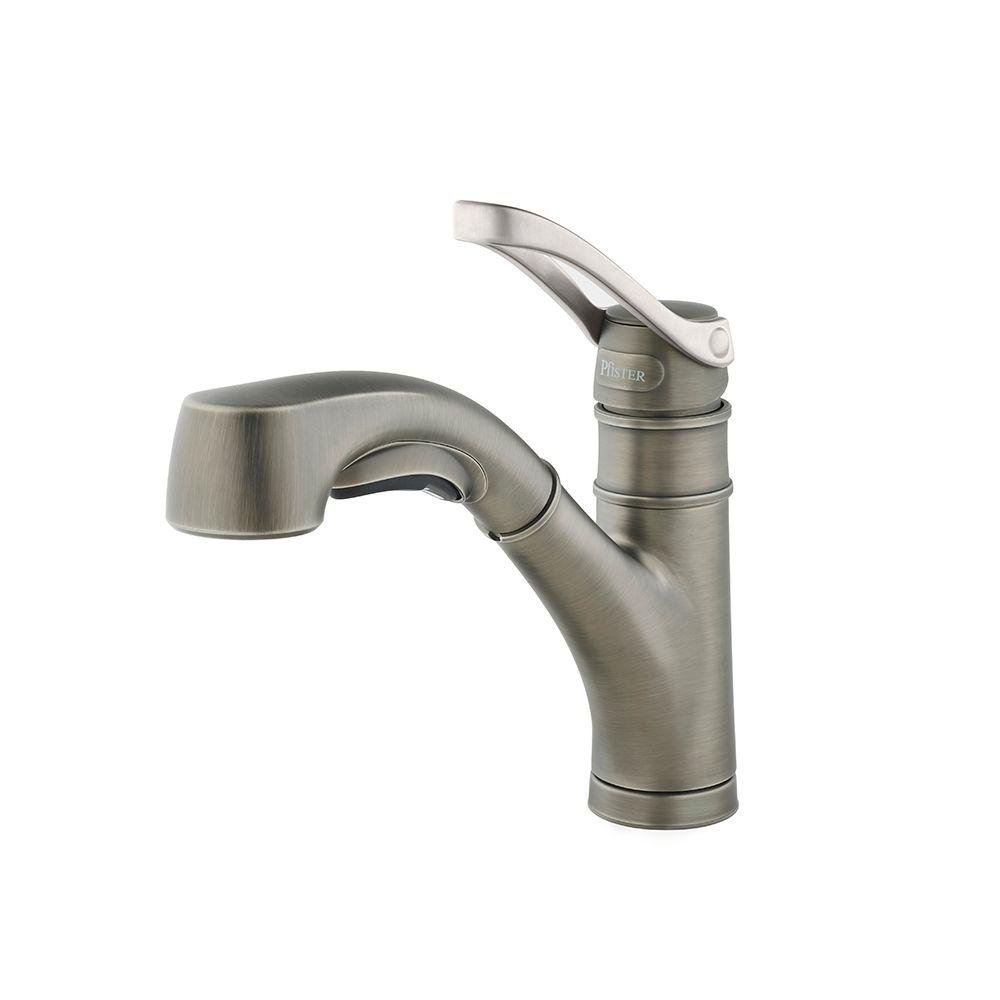 Merveilleux Pfister F 534 7PVSL   Prive Single Handle Pull Out Sprayer Kitchen Faucet  In Slate   Slate     Amazon.com