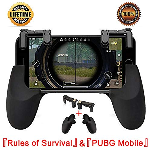 Mobile Game Controller,Game Pad Sensitive Shoot and Aim Keys Joysticks Game Controller for PUBG/Rules of Survival Gaming Triggers for iOS and Android