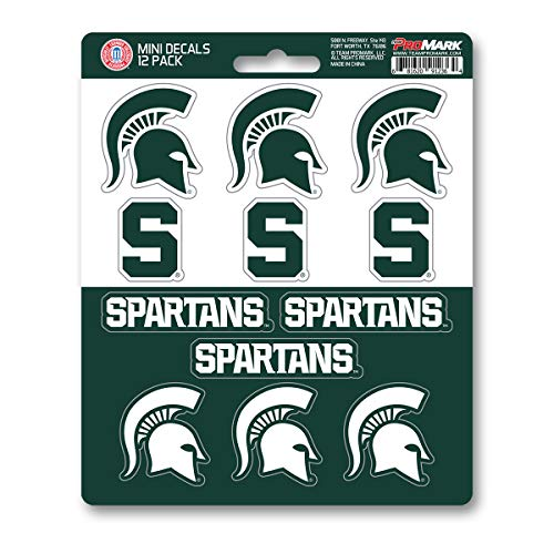 ProMark NCAA Michigan State Spartans Decal Set Mini (12 Pack), Team Color, One Size