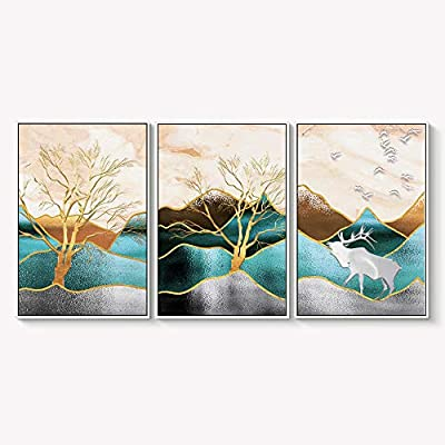 Framed for Living Room Bedroom Abstract Landscape Dream...16