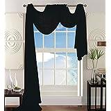 "Elegant Comfort Beautiful Window Panel Curtain Sheer Voile Scarf 54"" X 216"" Black"