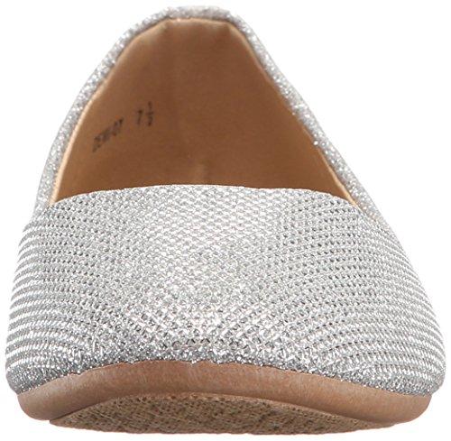 Aktualisieren Sie Women's Shiny Glitter Ballett Slip On Silber