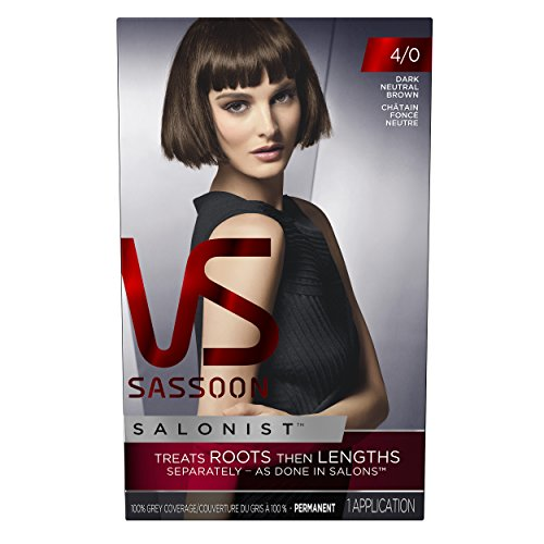 Dark Colour - Vidal Sassoon Salonist Hair Colour Permanent Color Kit, 4/0 Dark Neutral Brown (PACKAGING MAY VARY)