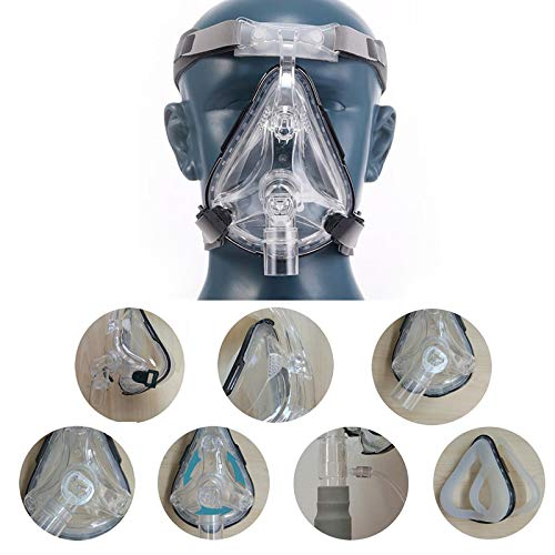 Full Face Mask Universal Adjustable Headgear with Valve - L