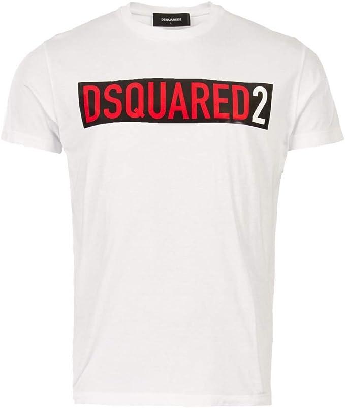DSQUARED2 Camiseta Hombre Bianco XL: Amazon.es: Ropa y accesorios