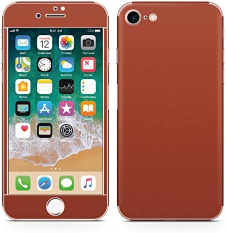 igsticker iPhone SE 2020 iPhone8 iPhone7 専用 スキンシール 全面スキンシール フル 背面 側面 正面 液晶 ステッカー 保護シール 009003 その他 シンプル 無地 赤茶