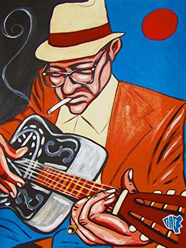 HOMESICK JAMES PRINT POSTER man cave guitar cd lp record album vinyl National steel rare chicago slide legend bottleneck