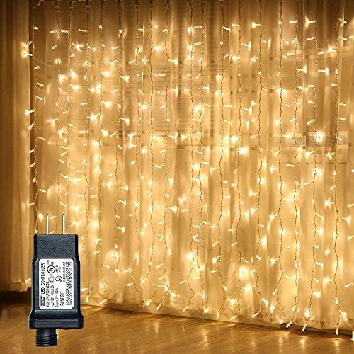 ANJAYLIA Curtain Christmas Backdrop Decorations