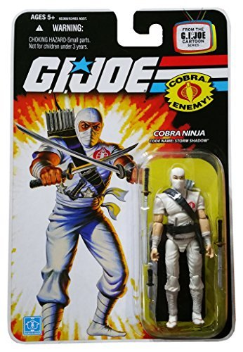 G.I. Joe 25th Anniversary Cartoon Series Cardback: Storm Shadow Classic (Cobra Ninja) 3.75 Action Figure ()