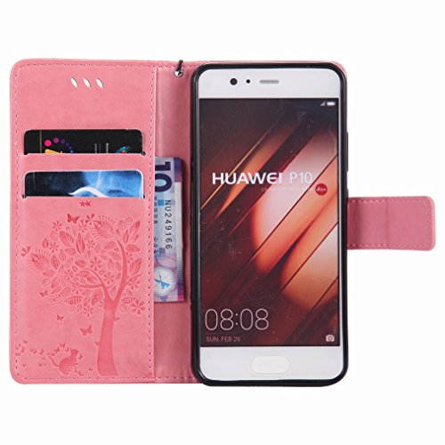Flip Case Slim Cover Protective Flap Case Pu P10 Premium Shell Drawing Bumper ro Shell Housing Slot Design Cover Case Tree Wallet Yiizy Style Huawei Stand Cards Skin Leather 1qnfZgf