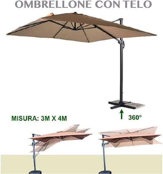 1713673_1 sombrilla de jardín 3 x 4 exterior jardín piscina Carpa terraza bar hotel: Amazon.es: Jardín