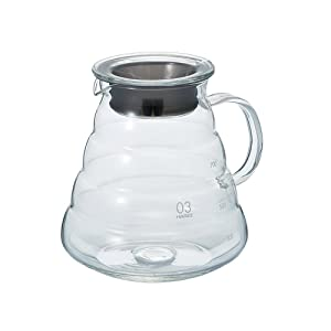 "Hario V60""Clear"" Glass Range Coffee Server, 800ml"