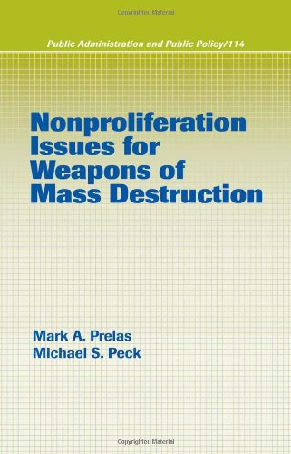 Nonproliferation Issues For Weapons of Mass Destruction (Public Administration and Public Policy)