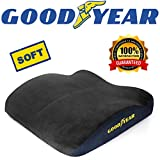 Goodyear GY1009  Ergonomic Cushion for Office Chair, Car, SUV  100% Pure Memory Foam  Relieve Pressure  Fits Most Seats  Designed for Maximum Comfort  Washable Cover