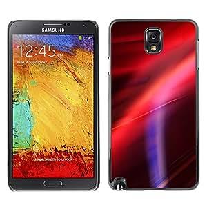 TopCaseStore / la caja del caucho duro de la cubierta de protección de la piel - Sunset Purple Pink Red - Samsung Galaxy Note 3 N9000 N9002 N9005