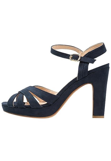 4d6f84df Anna Field - Sandalias con plataforma para mujer - en color gris claro, azul  oscuro o negro - sandalias de ...