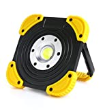 YONGYUE LED Work Light, Floodlight With Stand COB LED Tech, Cordless Tac Light - Portable Outdoor Security Camping Lights For Job Site, Car Repairing,Shop Site,Truck Garage And Emergency