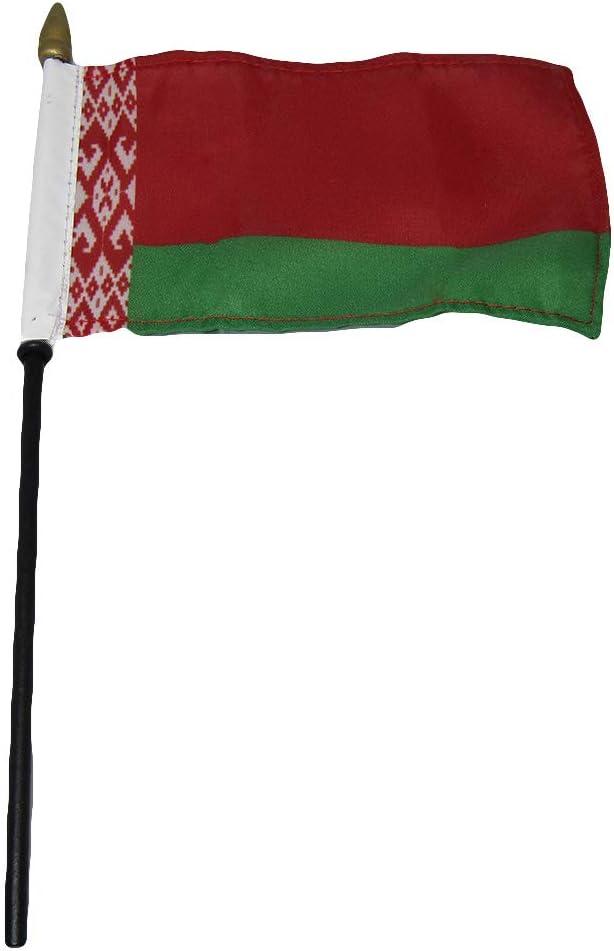 """Belarus 4/""""x6/"""" Flag Desk Table Stick"""