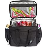 Large Cooler Bag,VASCHY 30-Can 23L Insulated Leakproof Picnic Lunch Bag with Hard Liner and Multi-Pockets for Camping, Beach, Travel, Fishing with Detachable Shoulder Strap,Beer Opener