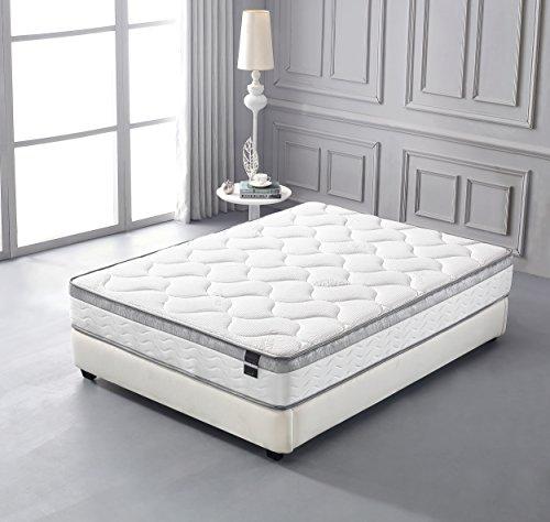 amazoncom oliver smith organic cotton 10 inch perfect sleep comfort plush euro pillow top cool memory foam u0026 pocket spring mattress green foam