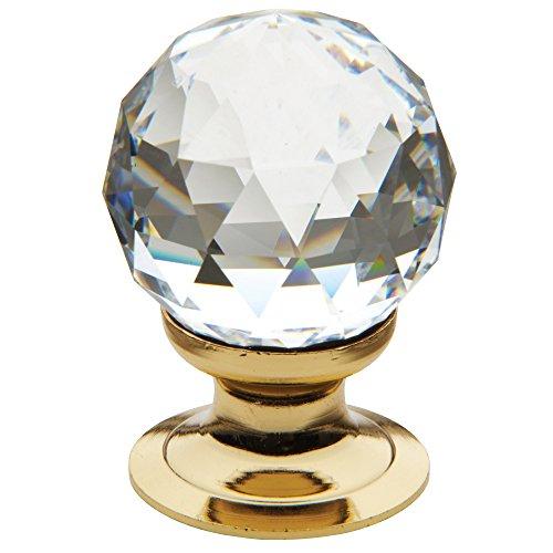 Baldwin Estate 4334.030.S Cut Swarovski Crystal Ball Cabinet Knob in Polished - 0.75' Knob