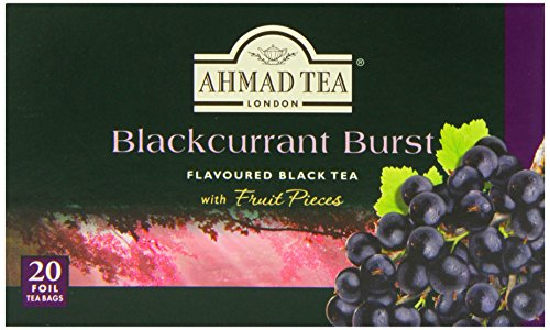 Ahmad Tea Blackcurrant Burst Black Tea, 20-Count Boxes (Pack of 6)