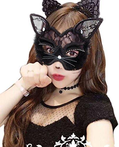 Nero uncinetto pizzo Masquerade cat-woman BATMAN VELO QUEEN MASK