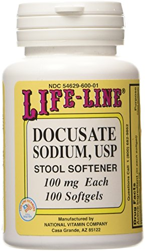 Life-Line Docusate Sodium USP 100 mg - 100 Softgels
